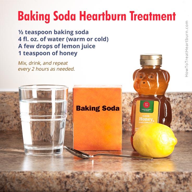 does baking soda help heartburn