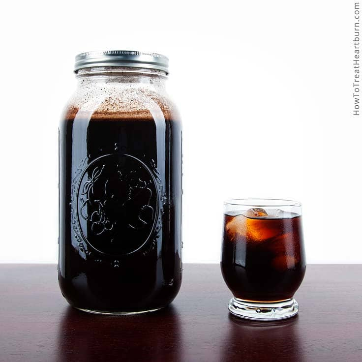 Cold brew coffee decreases the chances of getting heartburn when drinking caffeinated coffee.
