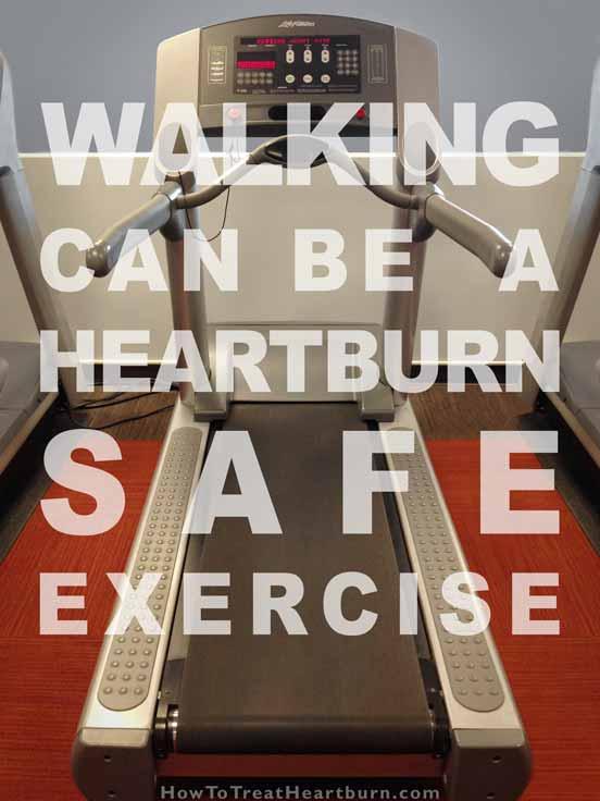 Treadmill: Heartburn Friendly Exercises