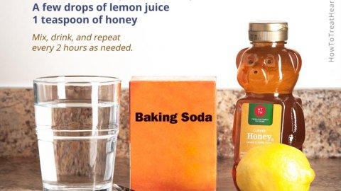 Baking soda for heartburn treatment