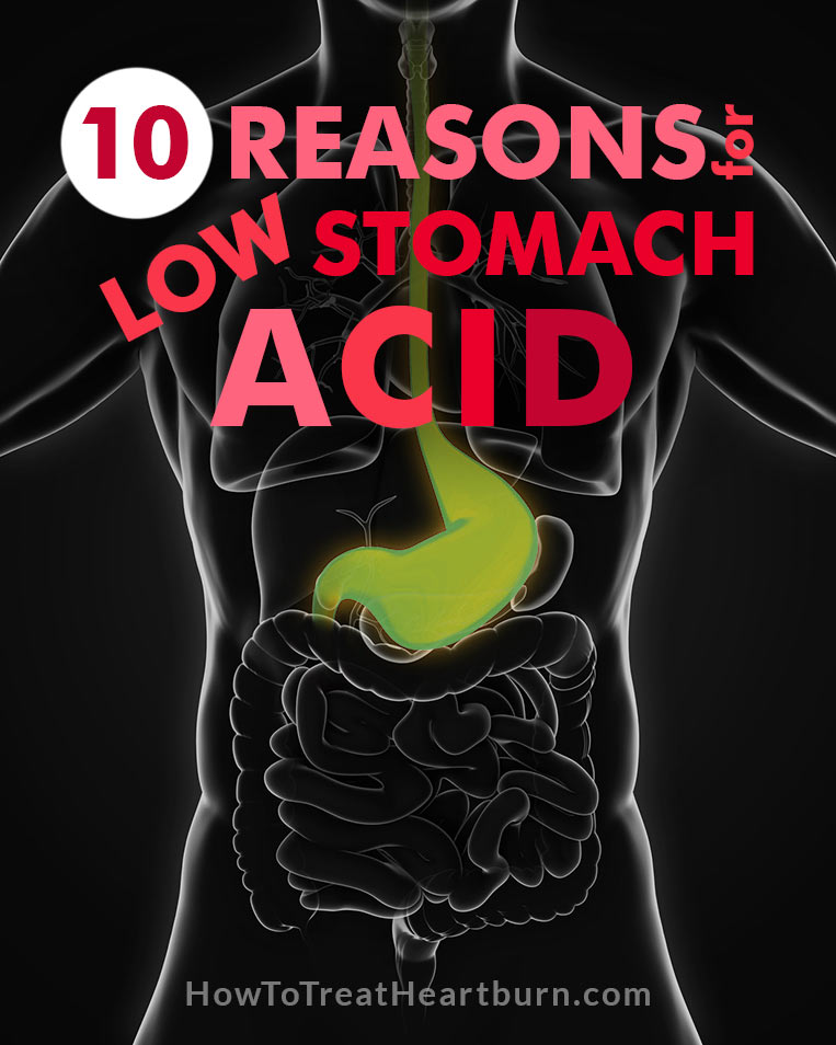 Low stomach acid can cause acid reflux, unhealthy bacterial buildup, and many more digestive disorders. Check out these 10 reasons for low stomach acid and how to increase stomach acid.