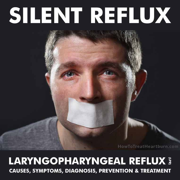 "Silent reflux or laryngopharyngeal reflux (LPR) is the reflux of stomach contents beyond the esophagus into the throat, voice box, lungs, mouth, sinuses, ears and/or nose. The term ""silent reflux"" is used because refluxed acid doesn't linger in the esophagus long enough to cause heartburn."