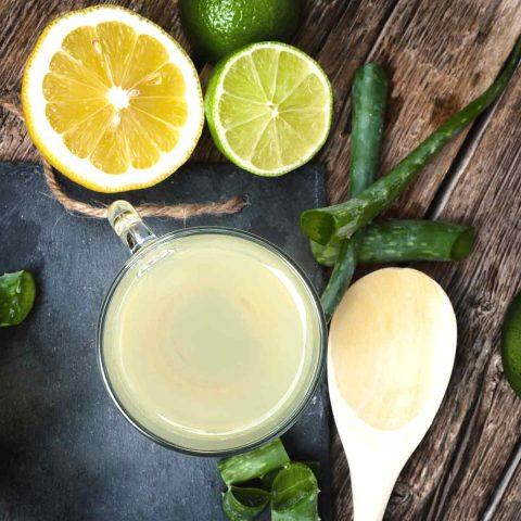 Aloe Vera, Lemon, Lime, and Ginger Drink Recipe For Heartburn