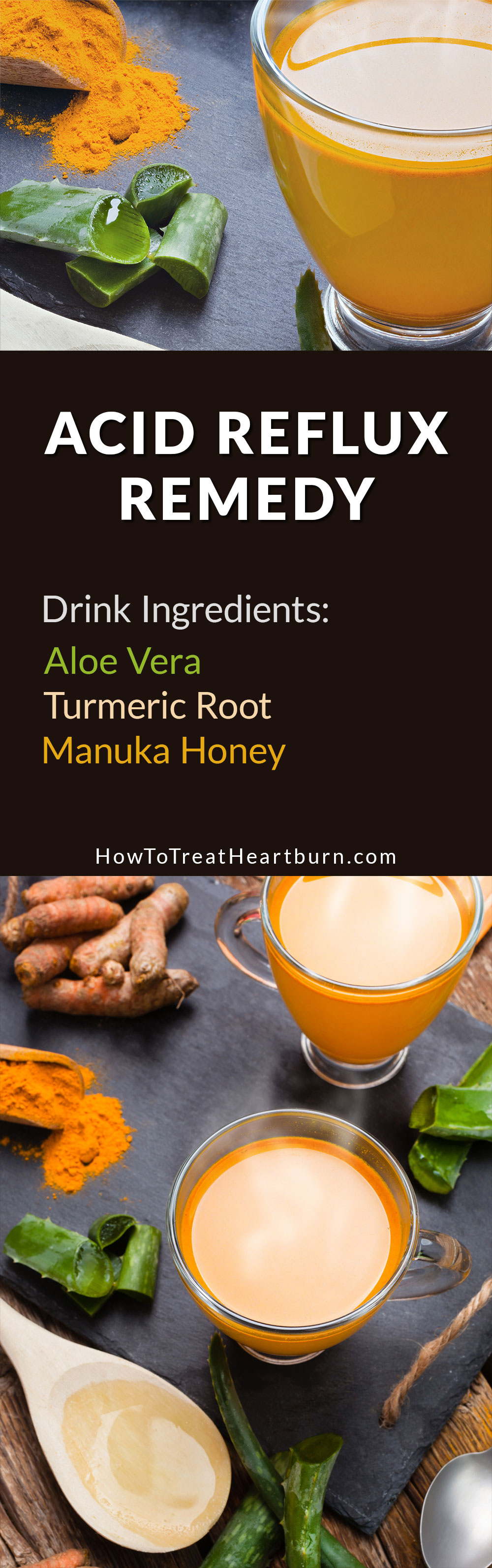 Aloe Vera Juice and Turmeric Drink Recipe For Heartburn