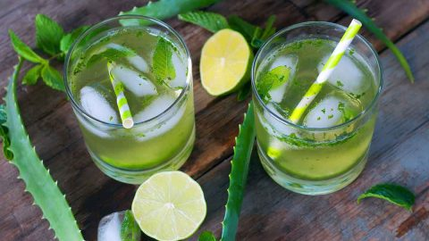 Aloe vera cocktail for acid reflux