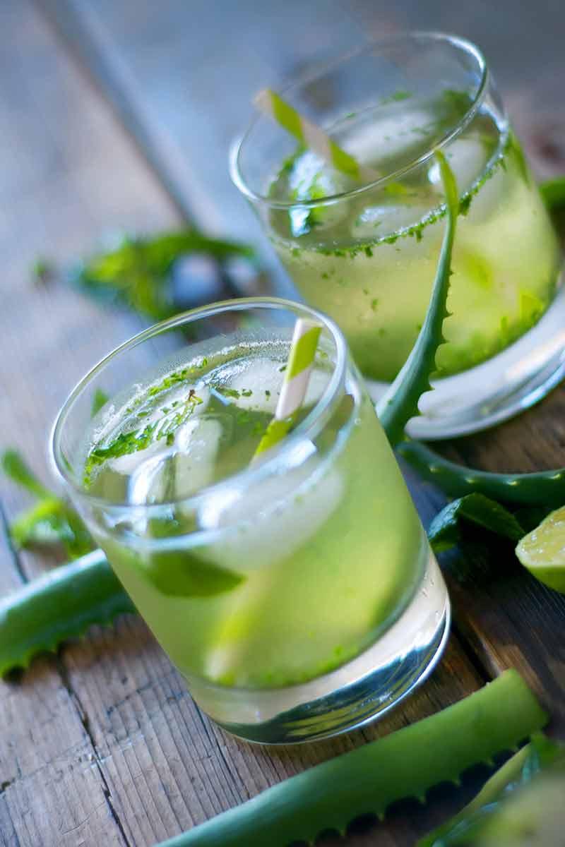 Aloe vera drink for heartburn