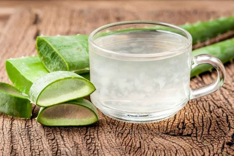 Aloe vera forms for treating acid reflux