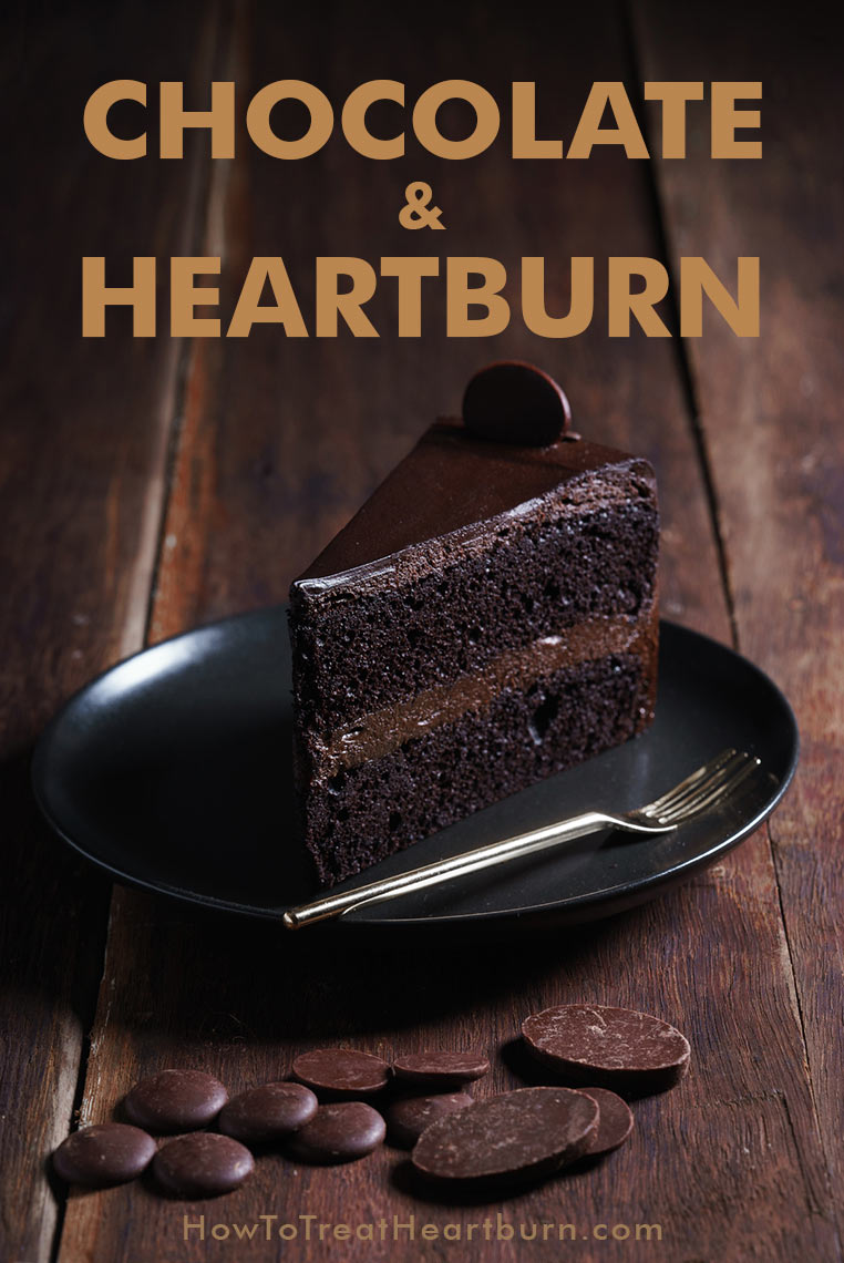 Chocolate cake and other chocolate desserts can cause heartburn symptoms. Causes of heartburn are often the foods we eat. Chocolate can cause acid reflux symptoms like heartburn and worsen GERD symptoms.
