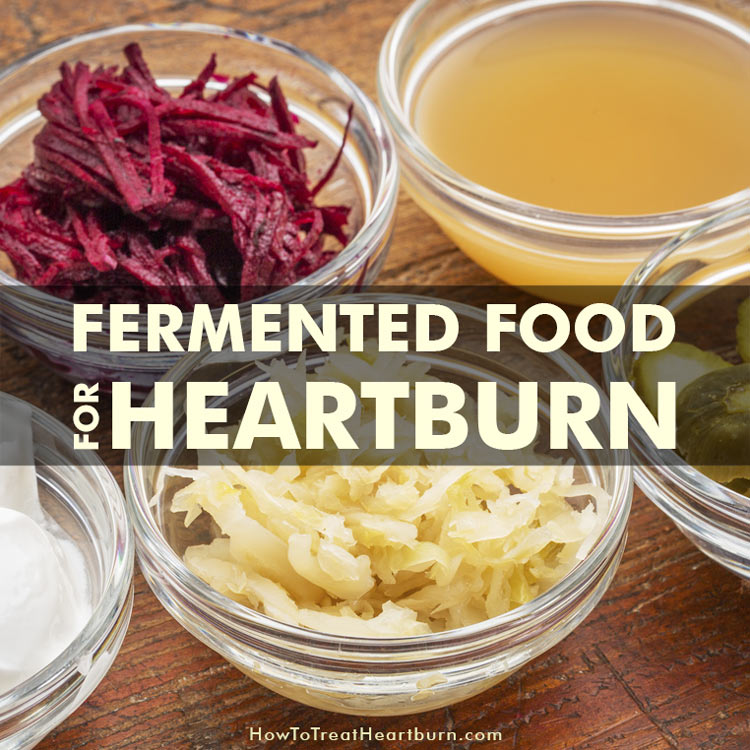 Lacto-Fermented Food For Heartburn: Lacto-fermented foods and beverages help prevent heartburn, acid reflux and GERD by introducing good gut bacteria to the digestive tract. improving good gut flora is one of the top natural acid reflux remedies available. This in-turn makes lacto-fermented food for acid reflux treatment one of the best ways possible to prevent chronic acid reflux otherwise known as GERD.