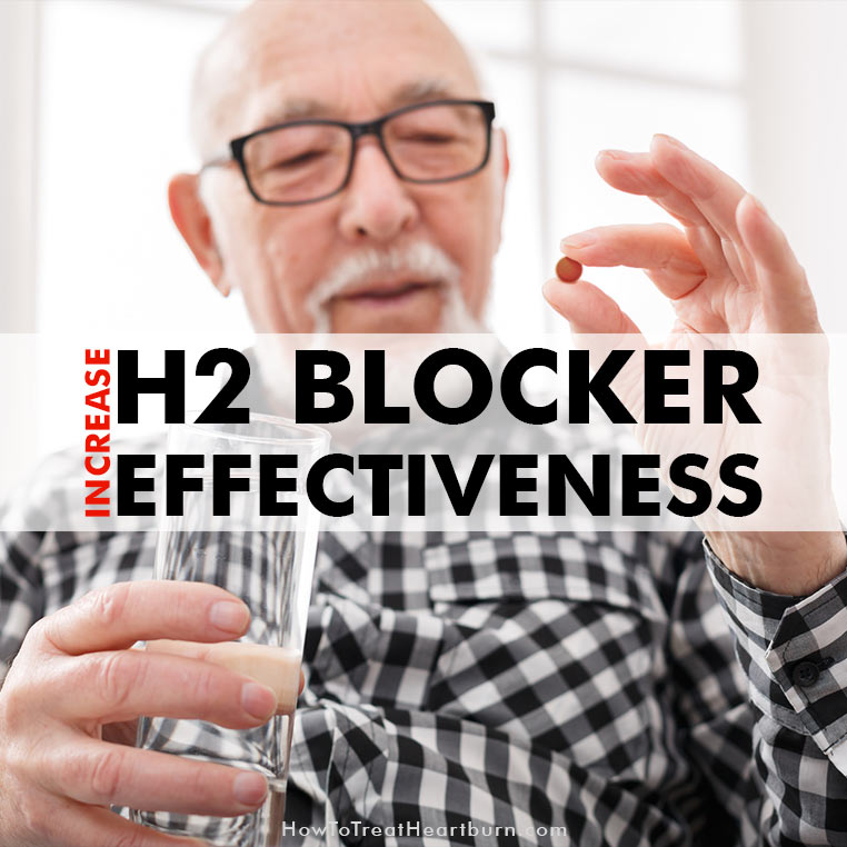 H2 Blockers for Heartburn Relief: Taking H2 blockers like Zantac with an 8oz glass of water will increase effectiveness of this heartburn medication to help treat and prevent acid reflux symptoms like heartburn.
