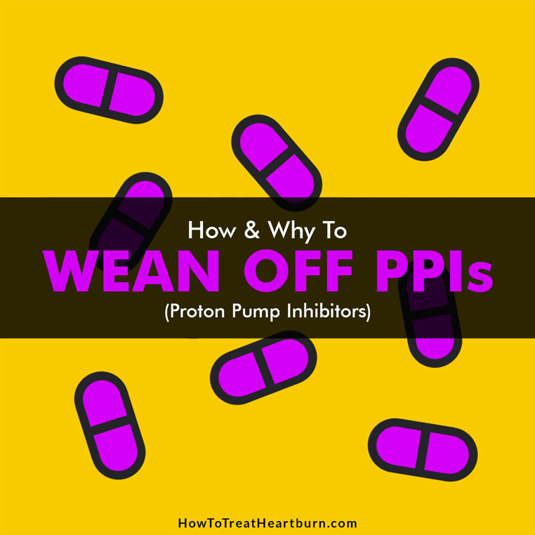 Purple pills. Graphic states... How and why to wean off PPIs (proton pump inhibitors).