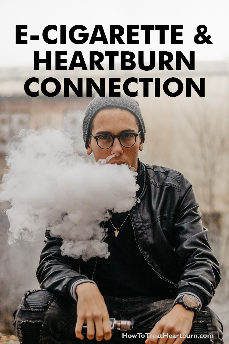 E-cigarettes and heartburn are connected through multiple side effects. Anyone using e-cigarettes who has experienced a connection between vaping and chronic heartburn should speak with a gastroenterologist. Discontinued use may be advantageous for preventing a progression of disease from GERD to Barrett's esophagus, a precancerous condition of the esophagus that develops into esophageal cancer when left untreated.